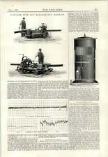 1891 Fowlers Rail Pipe Bending Machine Mills Lighthouse Speed Recorder