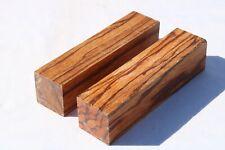 2PCS Marblewood Pen Knife Call Cue Exotic Wood Turning Bank Lumber 2 x 2 x 8¨