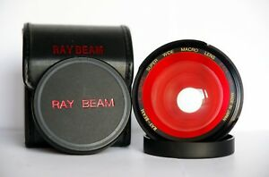 RAY-BEAM I.R.Series Super wide macro lens 0.42x 46mm AF Japan with case and caps