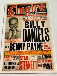 Billy Daniels With Benny Payne Theatre Flyer Postcard Moss Empire Glasgow Music