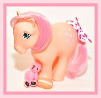 ❤️My Little Pony MLP G1 Vintage 1982 Peachy Concave Foot CF Pretty Parlor Pony❤️