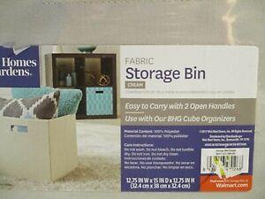 Better Homes and Gardens Fabric Cube Storage Bin (12.75X12.75X15) Gray