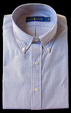 Men's RALPH LAUREN Lavender Black White Plaid Dress Shirt 15 32/33 NWT NEW
