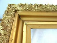 """Big Antique Fits 20 X 24"""" Gold Picture Frame Wood Gesso Fine Art ORNATE COUNTRY"""