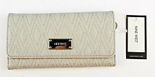 *Nine West Womens Gray Trifold Wallet and Checkbook Cover