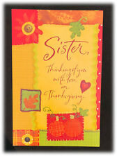 AGC Patchwork Sister Thinking Of You With Love On Thanksgiving Card