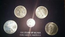100 Years of Silver Dollars in America Collection. Random years