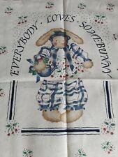 Fabric Panel Somebunny Past And Present Multicolor  58 L X 36 W