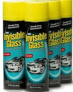 Invisible Glass - glass Cleaner [4 Pack Window Streak Free Aerosol Shine] NEW