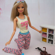 New Fashion Clothes Set Top Quality Clothing Outfits for Barbie Doll Handmade