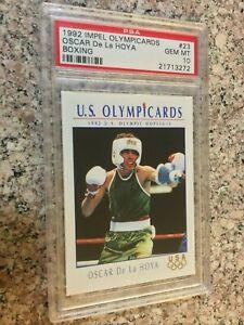 1992 Impel Boxing Olympicards - OSCAR DE LA HOYA - PSA 10 - Olympic - Rookie