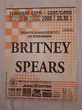 Ticket Concert Britney Spears Flanders Expo 2000