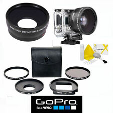 GOPRO HERO5 BLACK WIDE ANGLE + FISHEYE MACRO LENS + UV/CPL 5PC  KIT WITH ADAPTER
