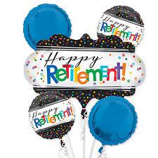 Happy Retirement Foil Balloon Bouquet Retirement Party Decorations