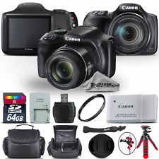 Canon PowerShot SX540 HS Digital Camera 20.3MP 50x Optical NFC / WiFi - 64GB Kit