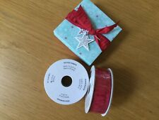 Stampin Up  - Red Ruched Ribbon - 10yds