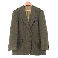 Harris Tweed 100% Laine Marron Veste Blazer Taille US/GB 44 Eu
