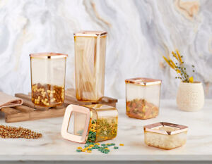 Set of 5 Containers Airtight Food Storage Kitchen Accessories Copper