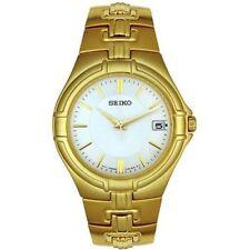 Seiko Men's SGEC70 Gold Tone Watch NEW YEAR/ GIFT/ WEDDING /ANNIVERSARY