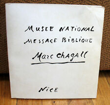 SIGNED Marc Chagall National Museum Message Biblique Nice Paintings Drawings PB