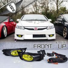 Fits 09-11 Honda Civic Sedan Yellow Lens Fog Lights With Switch OE Style Pair