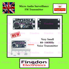 Micro Audio Fm Bug Radio Transmitter Surveillance Mp3 88-108Mhz Uk Seller