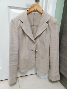 Hobbs ladies jacket Size 12 cream 100% Linen