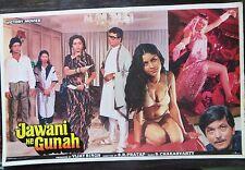 Lobby card bollywood Sex Romance Movie Jawani Ke Gunah (1989) victory movie's