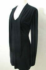 MARCIANO Black Extra Long Sleeve Little Black Dress with Tie XS/TP