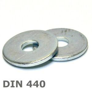 Unterlegscheiben verzinkt DIN 440 breiter Rand M5 - M24 Beilegscheiben a