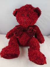 Russ Berrie Bears From the Past Rosetta Dark Cranberry Red Teddy Bear 11""
