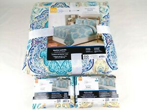 Mainstays Multi Paisley Quilt and 2 Shams Lot Full/Queen 86''x90'' NEW