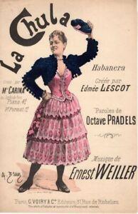 PARTITION VINTAGE - COULEUR - SUPERBE - LA CHULA DE 1894 - EXCEPTIONNEL ETAT