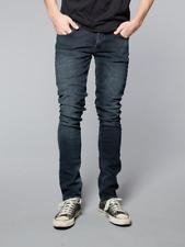 Nudie Herren Slim Fit Stretch Jeans Hose - Grim Tim Org. Blue Strike - W31 L34