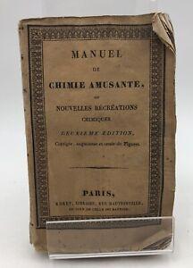 Friedrich  Accum, Samuel Parkes - Manuel complet de chimie amusante,  1827