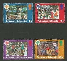 Pitcairn Is 1979 Christmas/Children's Art--Attractive Topical (188-91a) MNH