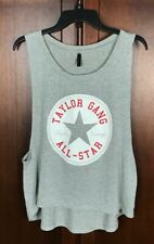 God Bless Taylor Gang All Star Women Grey Tank Top Size M