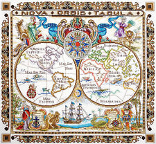 """Counted Cross Stitch Kit MARYA ISKUSNITSA (MARY WEAVER) - """"World Map"""""""