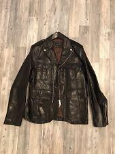 Dsquared Masterpiece Biker Lederjacke Leather Jacket Blazer 54 UVP1490€ Schwarz