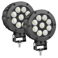 "5"" Cree Round LED Driving Lights 6500k Flood Combo Truck Work Pods Off Road 4WD"