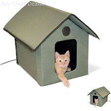 Heated Outdoor Kitty House Cat Warm Waterproof Outside Shelter Garage Pet Condo