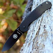 Couteau Esee Zancudo Carbon Fiber/G-10 Lame Acier D2 Black Military BRK1302CFB