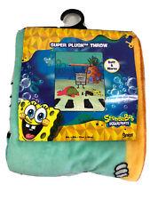 NWT Spongebob Squarepants Super Plush Throw Doodlebob Blanket