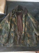 Barbour Wax jacket green camouflage Coat Unisex Size S 6/7 Years VGC