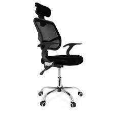 UK Adjustable Mesh Office Home Chair Executive Swivel Computer Desk Fabric 360°