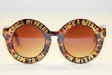XXL Oversize Sonnenbrille Retro Rund Boho braun gold Fun 988