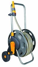 Hozelock  60m Reel with 50m Garden Hose Pipe Steel Plated Rust Free 12.5mm Dia.