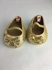 Build A Bear Workshop Gold Sparkle Flats Bows Babw Retired Shoes