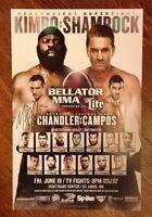 Kimbo Slice Vs Ken Shamrock Bellator 138 Poster Signed By Michael Chandler MMA