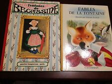 L'enfance de Bécassine, Fables de la Fontaine, 2 illustr French children's books